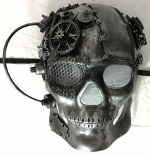 Skull Mask Cosplay Horror Halloween Sci Fi Steampunk Gear Rebel Costume Silver