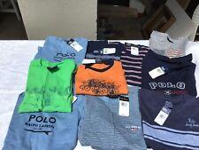 NWT Polo Ralph Lauren Boys Size 7 Short Sleeve Shirts,LOT Of 10