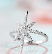 NORTH STAR STAR OF BETHLEHEM CHRISTMAS STAR FASHION RING SIZE 6+ SYMBOLISM RING