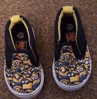 Childrens Nutmeg Despicable Me Minion Canvas Shoes Size 4 Blue Yellow SB1