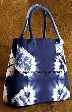Indian Tie Dye Indigo Blue Womens Purse Hobo Shoulder Bag Tote Shopping Bag Boho