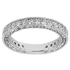 1.90ct Diamond Wedding Band Ring Platinum Round Brilliant Cut Prong Set H Si2