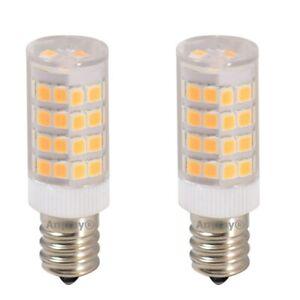 2-Pack S6 120V LED Night Light bulb ( 4W =40W ) E12 Candelabra Warm White