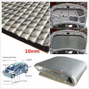 DIY 1*1.4m Car Hood Exhaust Muffler Insulation Heat Shield Mat Pad Cotton 10mm