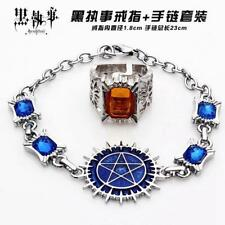 COOL! Anime Black Butler Cosplay Bracelet and Finger Ring 2pcs set #1