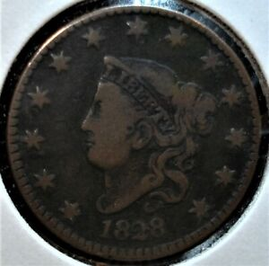 1828 Large Cent, Large Narrow Date Variety