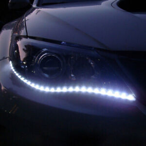 2X Car Decor 12V 15SMD 3528 White LED Strip Flexible Light 30cm Car Accessories