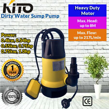 KITO Submersible Dirty Water Pump Sump Flooding Pond Swimming Pool Upto8m 217L/M