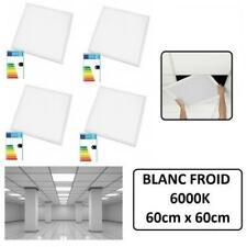 4 LED PANEL PREMIUM 60 X 60 CM 48W BLANC FROID + TRANSFO - TAILLE DALLE PLAFOND