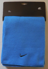 NIKE Adult Unisex Acrylic Scarf Color Blue/Black Size OSFM New