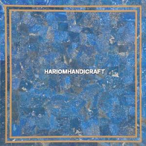 Marble Coffee Table Random Lapis Lazuli Inlaid Exclusive Home Garden Decor H5152