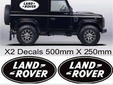 x2 LANDROVER OVAL LOGO DEFENDER OFF ROAD 4X4 VAN CAR GRAPHICS STICKERS DECALS