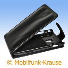 Flip Case Etui Handytasche Tasche Hülle f. Samsung Omnia M (Schwarz)