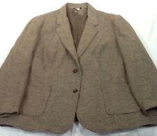 St1350 WWS Men's Brown Plaid Two-Button Suit Size 46