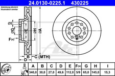 Bremsscheibe (2 Stück) - ATE 24.0130-0225.1