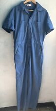 1970s Vintage Dickies Blue Chambray Coveralls Size 42 Long Workwear