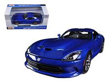 2013 Dodge Viper Srt Gts Blue 1:24 Diecast Model - 31271bl