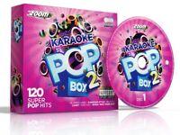 Zoom Karaoke Pop Box 2 - 6 CD+G Set - 120 Super Pop Hits - New!