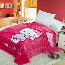 "Hello Kitty Cute Supersoft Plush Bedroom Blanket Throw Cover 59""x78"""