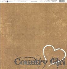 Moxxie - Country Girl Scrapbooking Paper - 1557 - Cowgirl