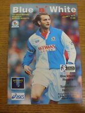 05/11/1994 Blackburn Rovers v Tottenham Hotspur  .  Footy Progs offer this item