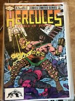 Hercules Prince of Power #1 #2 #3 #4 Marvel Comics Limited Series Sept-Dec 1982