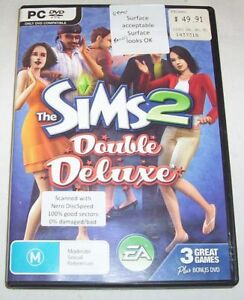 The Sims 2 Double Deluxe game DVD set (incl Nightlife, Celebration packs)