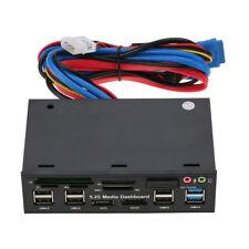 "5.25"" PC Internal Card Reader Media Dashboard Front Panel USB 3.0 All-in-1 SATA"