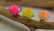 12 Flies Tungsten Beaded Egg Fly Fishing | 3 Colors Available | Mustad Signature