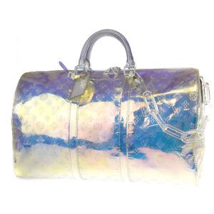Auth LOUIS VUITTON Keepall 50 Shoulder Hand Bag Monogram Prism M53271 645LB165