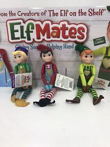 BRAND NEW Elf on the Shelf Elf Mates Set of 3 Chef Toymaker & Cobbler