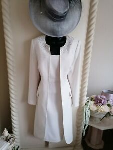 BERKERTEX STUNNING CREAM MOTHER OF THE BRIDE OUTFIT SIZE 16