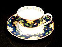 Beautiful Taitu Primavera Blue Flat Cup And Saucer