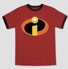 "New Boys Disney/Pixar ""The Incredibles"" Super Hero Logo Short Sleeve Shirt Sz M"