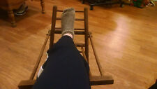 Vintage Wood Gout Foot Stool Leg Rest Medical Furniture