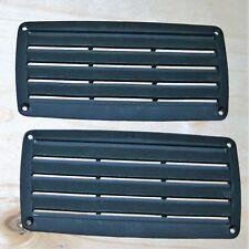 Lüftungsgitter Abluftgitter Insektenschutz - Kunststoff schwarz - 1 Paar  NEU