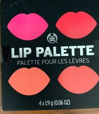 The Body Shop Poppy Lip Color Palette Lipstick 4 Shades NEW SEALED