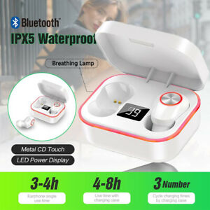 NEW! Bluetooth 4.2 Wireless Earbuds HD HiFi Stereo Noise Isolating - Great Gift