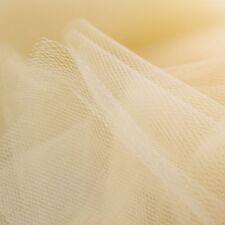 Honig hell gold hautfarben Vanille Fein Tüll Netzstoff 300cm breit - Von der M