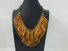 Vintage Classic Collection XX Joan Rivers Triple Tier Amber Lucite Necklace
