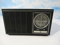 Vintage General Electric AM-FM Radio Model #7-4110 Walnut For Parts Or Repair