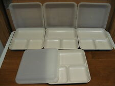 TUPPERWARE 4 Ultra 21 Divide-A-Dish 3 section square plates w/sheer seals(8pc)