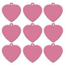 20pcs/lot Pink Heart Dog Tags Disc Personalized Custom Name ID Collar Tags