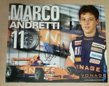 Marco Andretti Signed Hero Card Indycar Indy Lights