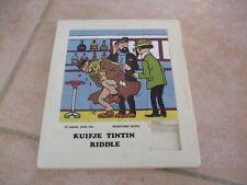 TINTIN KUIFJE TINTIN RIDDLE LOMBARD HERGE 1976 JEU DE TAQUIN POUSSE POUSSE