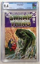 🔥SWAMP THING #1 CGC 9.4**(1972 DC)**WHITE PAGES**BERNIE WRIGHTSON**ORIGIN STORY
