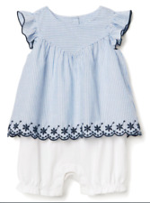 GAP BABY GIRL EMBROIDERED 2-in-1 ONE-PIECE NWT 12-18 Month N11 NNN