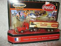 """""""COKE AROND THE WORLD COLLECTION"""" 2000 MATCHBOX COCA COLA TRUCK FRANCE 1:64"""