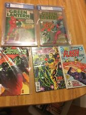 Green Lantern Pgx Lot 20 43 Both With Flash Crossovers  Flash 300 + Bonus Comics
