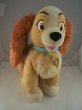 Vintage Walt Disney store London Lady & the Tramp cocker spaniel plush 12""